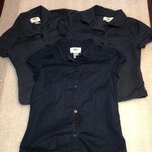 3 Piece Old Navy Uniform Shirts